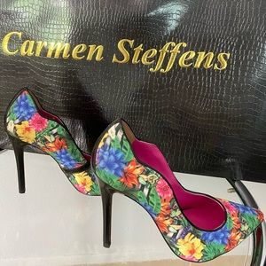 NEW CARMEN STEFFENS FLORAL POINTY SHOES Size 37